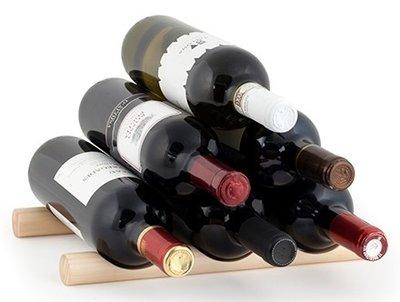 Kikkerland Wine Sticks wijnrek - 6 flessen