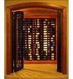 Afbeelding van de kast met VintageView WS33-K wijnrek - 27 flessen