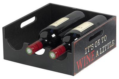 Cosy Brisbane wijnrek - 3 flessen