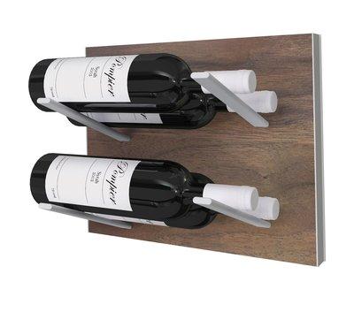 STACT Walnut wijnrek - 4 flessen