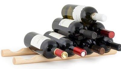 afbeelding van Kikkerland Wine Sticks wijnrek - 15 flessen